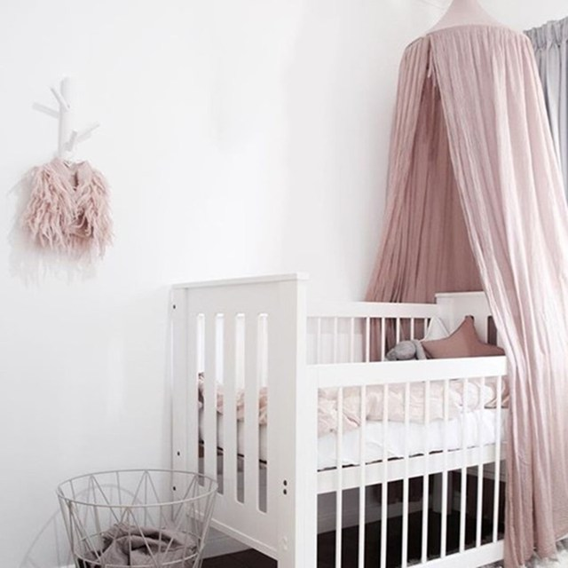 Bed Canopy Netting Kids Baby Bedding Dome Bedcover Mosquito Net Curtain for Baby Kids Reading Playing Home