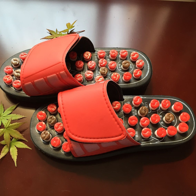 2017 Red Gossip Rotating Shoes Sandal Reflex Massage Slippers Acupuncture Foot Healthy Spring Massager Shoe фен elchim 3900 healthy ionic red 03073 07