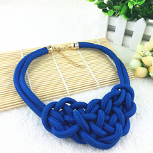 2014 New Hot Sale High Quality Cotton Fashion Necklace Return Value Shourouk Statement & Pendants For Women Dress Gift