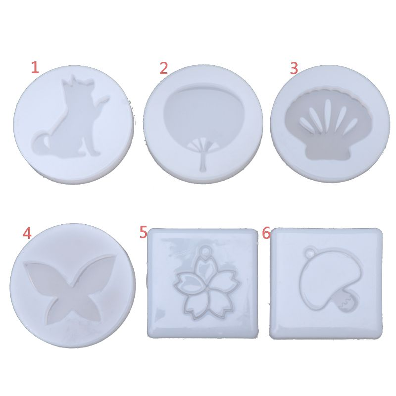Pet Dog Cherry Flower Fan Shell DIY Jewelry Pendant Mold Resin Jewelry Making Handmade Tools Molds Crafts New