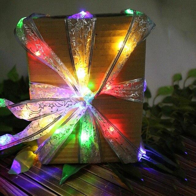 Albero Di Natale 400 Cm.Star Moon Ribbon Led String 40led 400 Cm Lunghezza Colore Blu Bianco