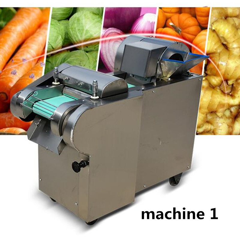 220V Commercial Electric Vegetable Slicer Automatic Multifunctional Electric Vegetable Shredder Dicer Machine EU/AU/UK/US Plug