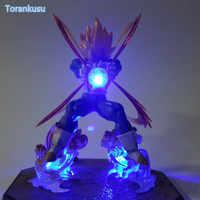 Dragon Ball Z Figura di Azione Vegeta Figurts Zero Led Luce Fai da Te Display Giocattolo Esferas Del Drago Giocattolo Super Saiyan Dbz + Luce DIY81
