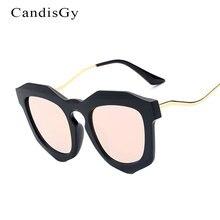 2017 Nuevo Lujo Hipster gafas de Sol de Moda Diseñador de la Marca Mujeres Del Ojo de Gato de la Señora Femenina gafas de Sol de Marco de Metal de flexión