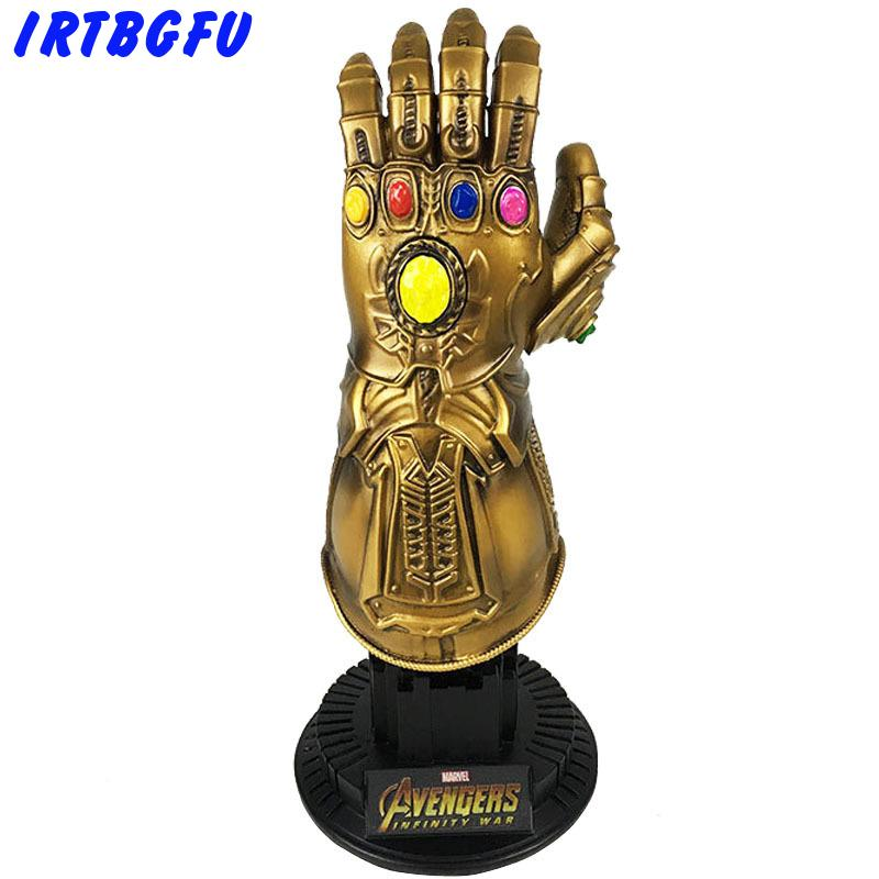 Thanos Gauntlet Avengers Infinity War Action Figures Cosplay Superhero Iron Man Action Collectible Figurines Model Toy Hot Sale marvel avengers infinity war thanos gauntlet action figures cosplay superhero iron man anime avengers thanos glove