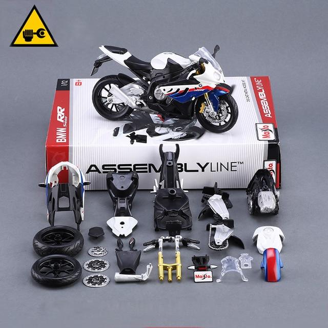 Assembled toy S1000RR Motor Model Building Kits motorcycle model building kits 1/12 assembly toy kids gift mini moto diy diecast