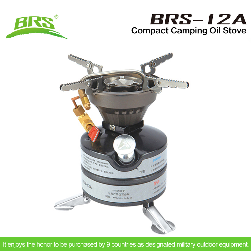 BRS 12A Portable Outdoor Military Camping Stove One piece Burners Gasoline Petrol Stove Cookware Camp Oil