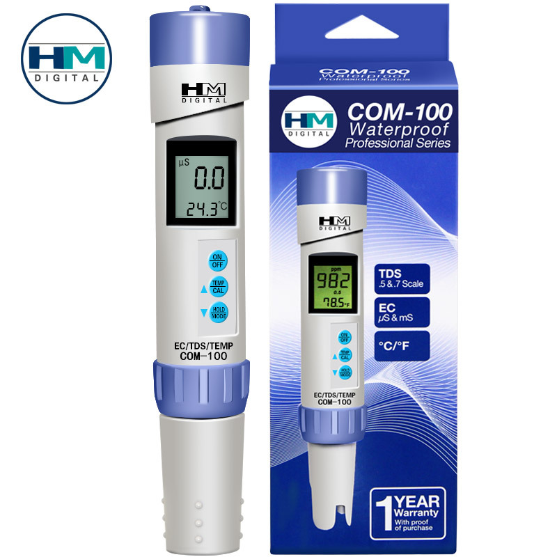 HM COM100 TDS Pen TDS Water Quality Tester Pen Conductivity Monitor Detector Meter Analyzer