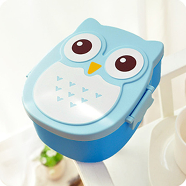 Kawaii Candy Color Owl Dinnerware Microwave Oven Bento Container Case Dinnerware Children\u0027s Birthday & Kawaii Candy Color Owl Dinnerware Microwave Oven Bento Container ...