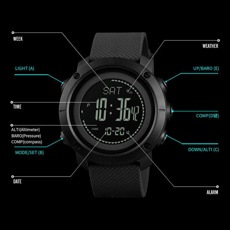 SKMEI альтиметр барометр термометр высота мужские цифровые часы спортивные часы альпинистские походные наручные часы Montre Homme 1418