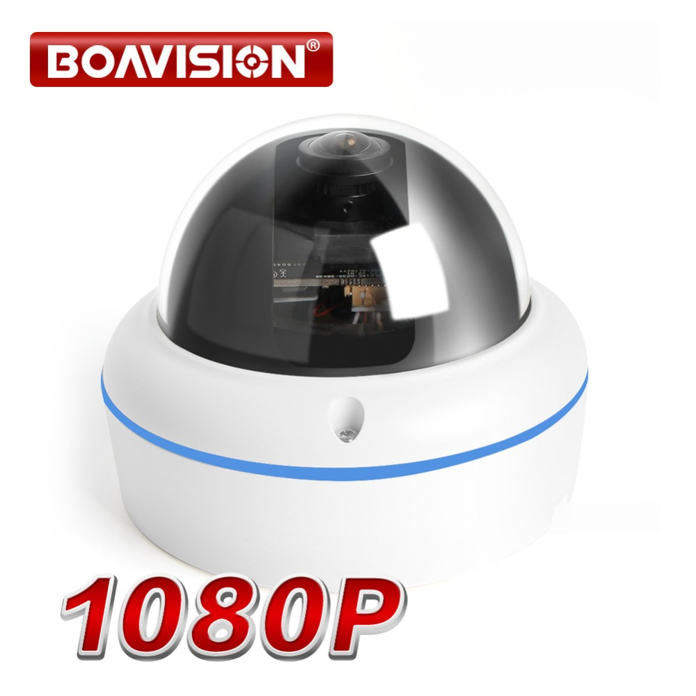 Panorama HD 1080P Fisheye IP Camera Outdoor With POE Dome H 264 360 Degree Wide Angle