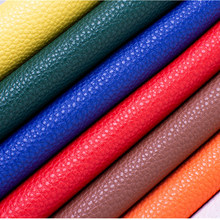 50x138cm 1mm Thick Soft Lychee PU leather Fabric Embossed Synthetic Faux Leather for DIY Bag Sofa Car Decorate Furniture
