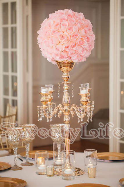 68cm Tall Wedding Table Centerpiece Flower Vase Candelabras Candle Holders