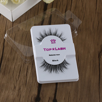 1 Pair Fashion Natural Women 100% Real Mink Black Handmade Cross Long Thick False Fake Eyelashes Eye Lashes Makeup Extension False Eyelashes