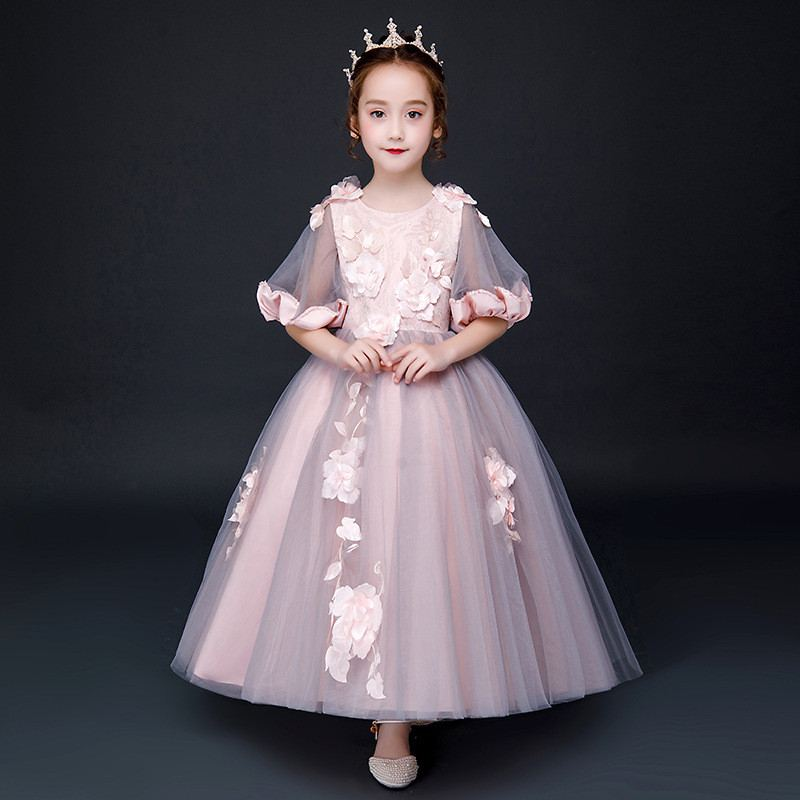 New Teenage Girls Mesh Floral Tutu Princess Dress Kids Dresses For Girls Wedding Party Gowns Toddler Girl Clothing Vestidos F61New Teenage Girls Mesh Floral Tutu Princess Dress Kids Dresses For Girls Wedding Party Gowns Toddler Girl Clothing Vestidos F61