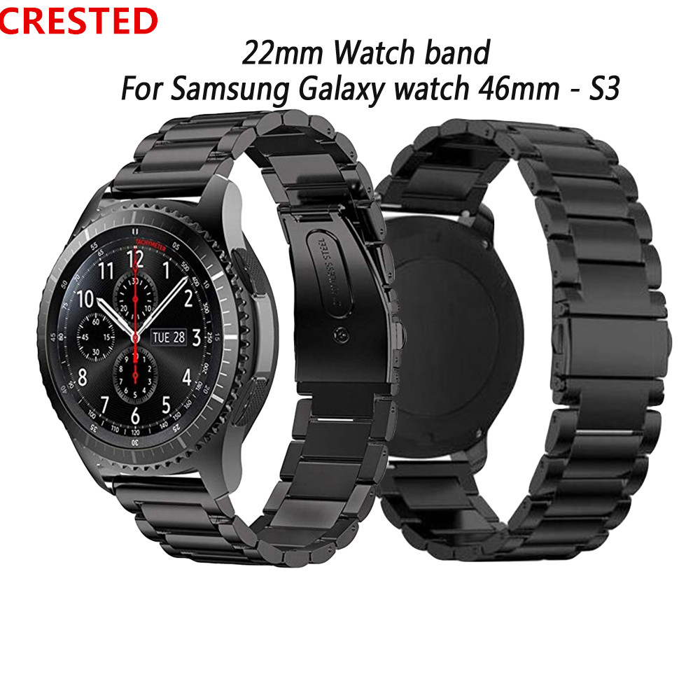 For Samsung Galaxy Wacth 46mm Band Gear S3 Amazfit Gtr 47mm Huawei Watch Gt Strap Stainless Steel 22mm Watch Band Babracelet