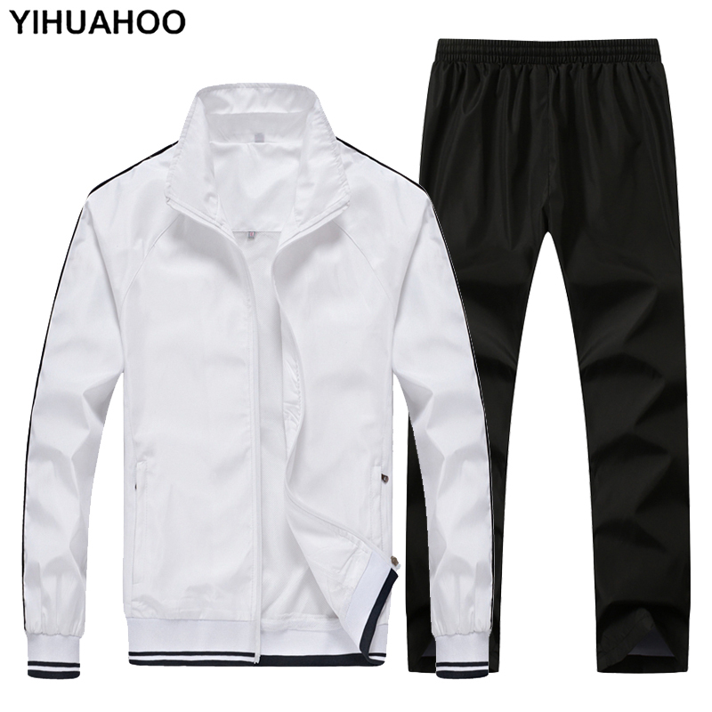 YIHUAHOO Tracksuit Men 4XL 5XL 2 Two Piece Clothing Set Casual Hoodies Sweatshirt Sportswear Sweatsuit Track Suit Men TC001