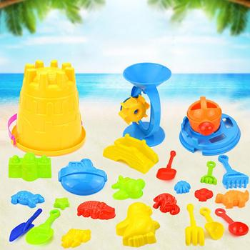 25Pcs/Set Kids Colorful Beach Sand Mold Play Set Outdoor Backyard Sandpit Toy Interactive games 25pcs set kids colorful beach sand mold play set outdoor backyard sandpit toy interactive games