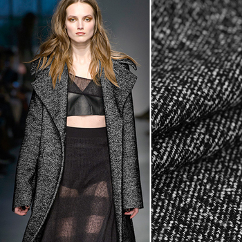 Spring and Autumn Thick Black Jacket Overcoat Outwear Wool Viscose Fabric 145CM Wide 560G Per Meter Sell By Meter  DE549