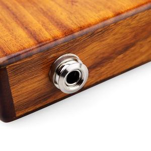 Image 5 - Muspor 17 tuşları EQ kalimba akasya başparmak piyano bağlantı hoparlör elektrikli pikap çantası kablo 17 tuşları Calimba Mini piyano kamfer