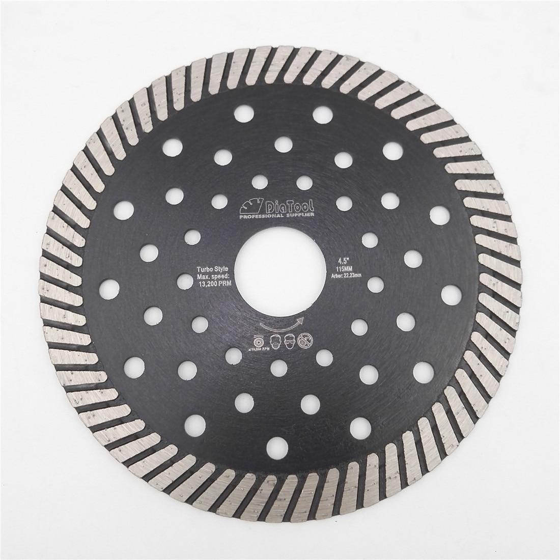 DIATOOL 4.5/5/7/9 Diamond Hot Pressed Turbo Blade Cutting Disc Granite Marble Concrete Masonry Sawblade Diamond Wheel Disc