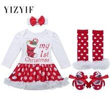 7f7d12559 YiZYiF bebé niñas ropa de bebé Navidad vestido de traje de Santa Claus  manga larga ropa
