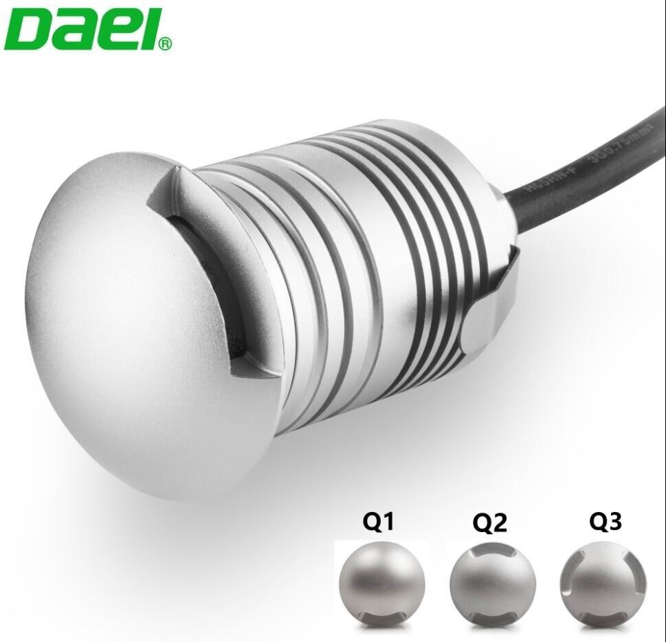 Just 10pcs High Quality Aluminum Led Inground Light 3w Ip67 Led Underground Spotlight Dc12v/24v Warm Cool White For Floor Deck Stairs Led Lamps