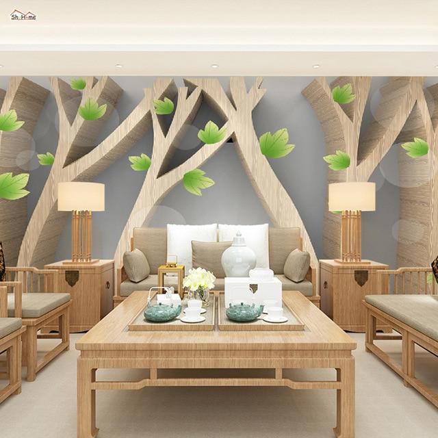 art nouveau grand papier peint simplement arbre abstrait. Black Bedroom Furniture Sets. Home Design Ideas