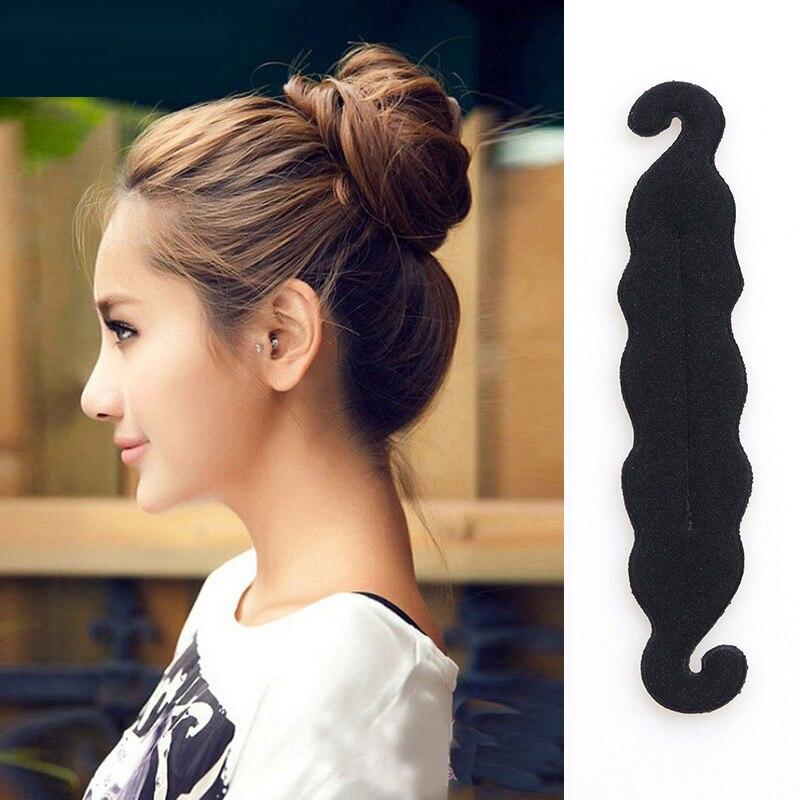 Qualität Frauen Magic Foam Sponge Hairdisk Haar Gerät Donut schnell - Bekleidungszubehör - Foto 2
