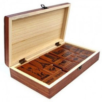 Freeshipping Romantic Memories Of The New York Chapter Of Retro Travel Style Wood Box Stamps DIY