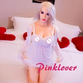 Pinklover 158cm real silicone sex dolls adult japanese love doll mini vagina lifelike