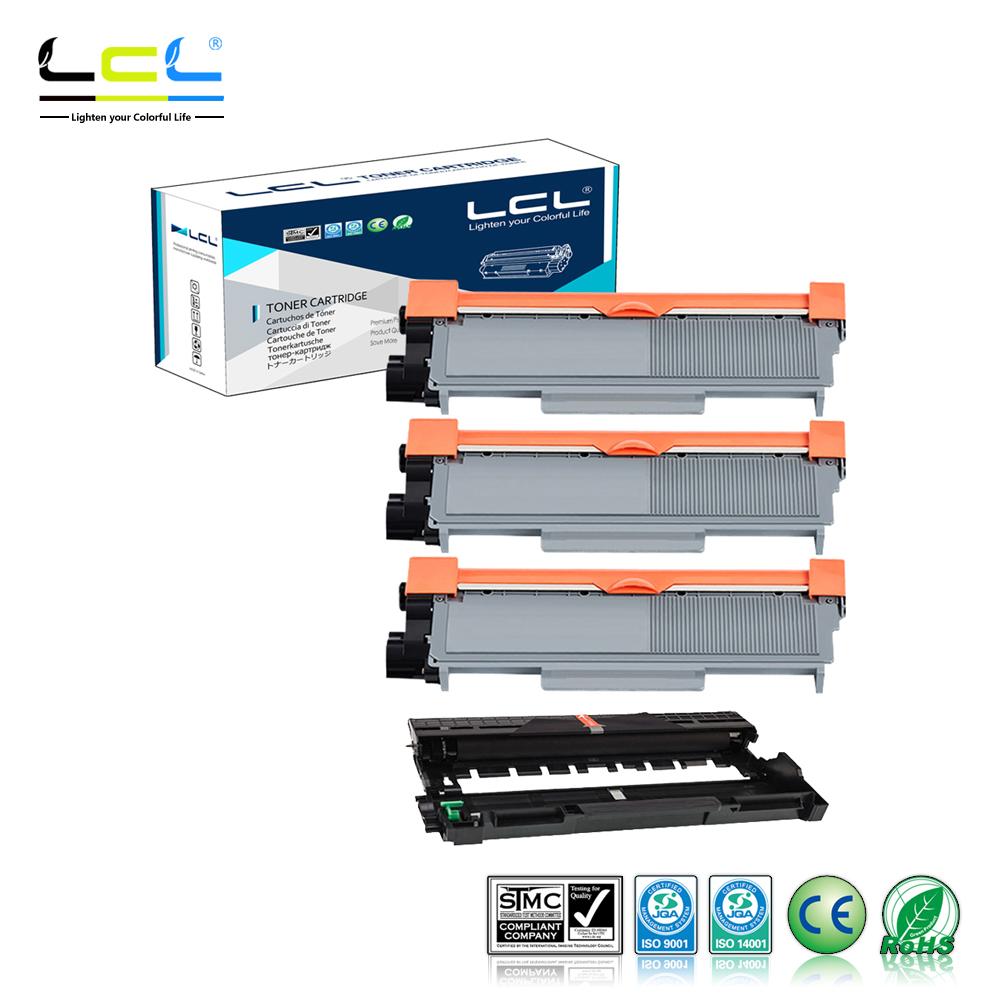 LCL TN660 TN630 TN2350 TN2330 TN2375 TN2335 DR630 DR2300 DR2335 DR2325 (4-Pack) Toner Cartridge Compatible for Brother Printer