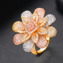 SISCATHY Romantic Charms Full CZ Flower Rings for Women Noble Symbol Birthday Anniversary Gift Party Fashion Jewelry 2019
