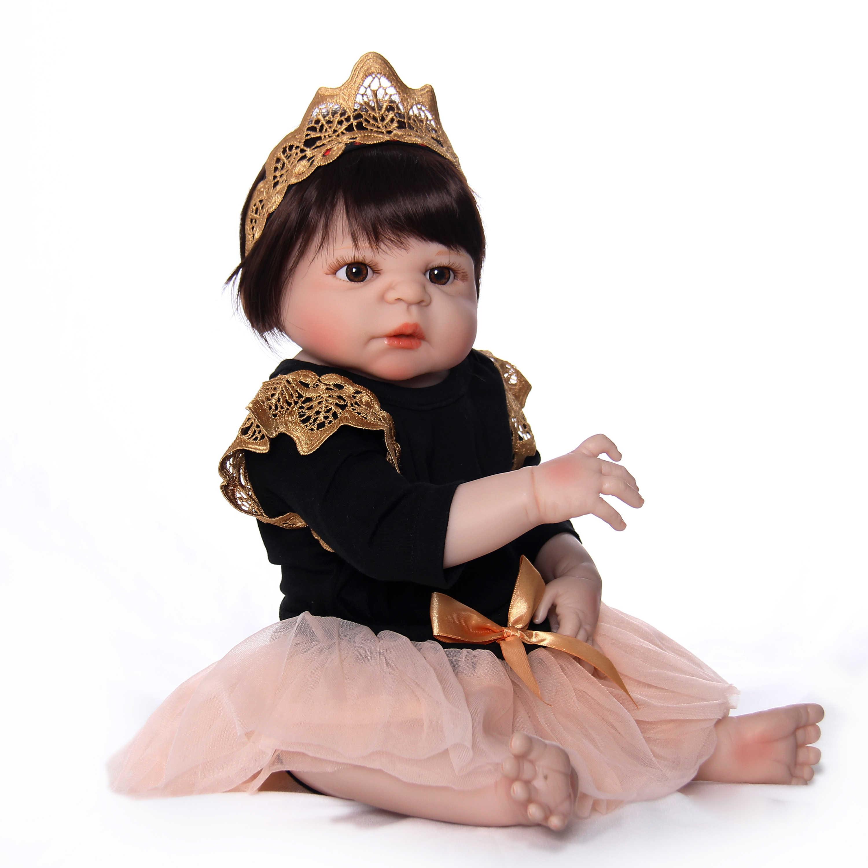 Новейший стиль Reborn Baby Dolls 23 дюймов полный силиконовый винил ручной работы для новорожденных принцесс девочек кукла игрушка для продажи подарки на день рождения детей