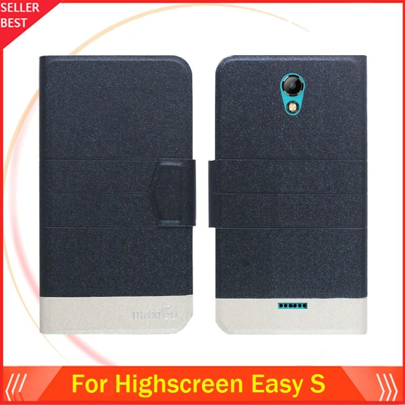 5 Χρώματα Super! Highscreen Easy S Phone Case Leather Full - Ανταλλακτικά και αξεσουάρ κινητών τηλεφώνων - Φωτογραφία 2