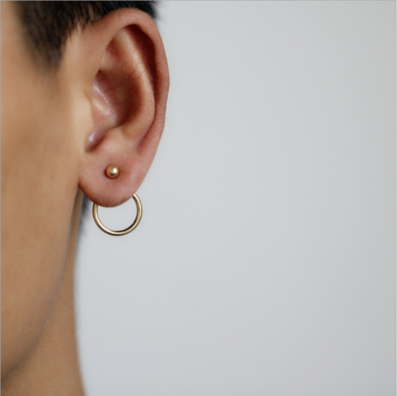 Personality Super Circles StudsEarrings For Women Fashion Gold Silver Color Jewelry Bijoux Trendy Statement Earrings