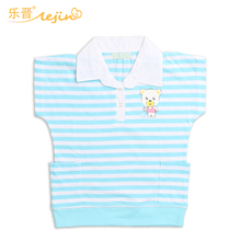 LEJIN Детские костюмы рубашка для девочек блузка летняя Повседневная топы корректирующие короткий рукав с принтом 100% хлопок