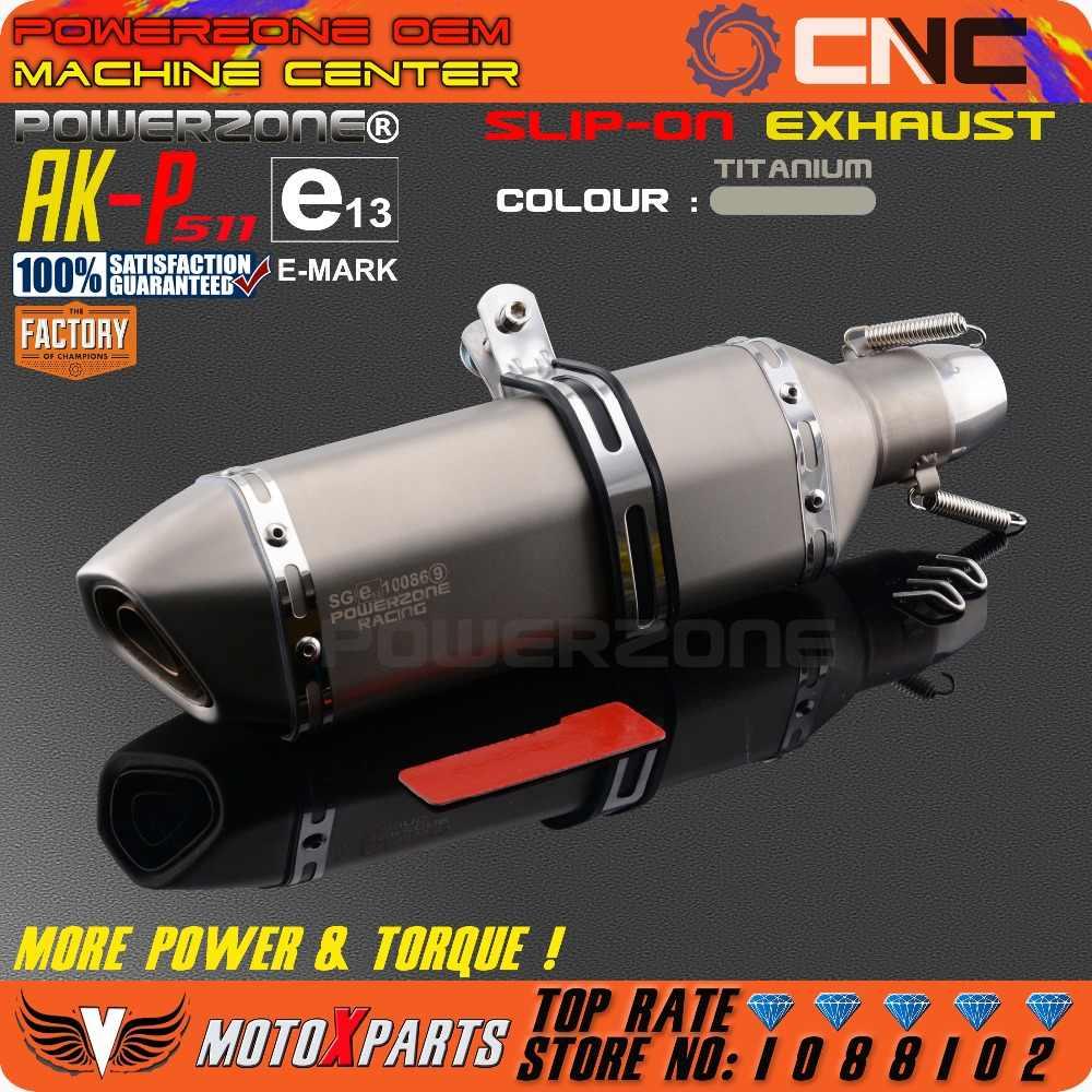 変更されたオートバイe-マークAK-P511排気管ユニバーサルマフラー用cb crb yzf ttr ktm exc r6 zx-6r zx-10r gsxrスクーターatv