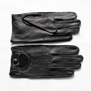 Image 4 - Deerskin gloves mens motorcycle single layer thin section fashion new spring and summer autumn motorcycle rider leather gloves
