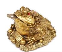 pure copper toad found large golden cicada frog toad statues animal Brass head figure sculpture gold toad Decoration home
