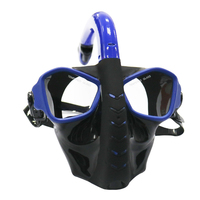 Full Face Diving Mask 180 View Panoramic Diving Mask with Tempered Glass Lens Scuba Glasses Mask for Underwater Snorkel Swimming