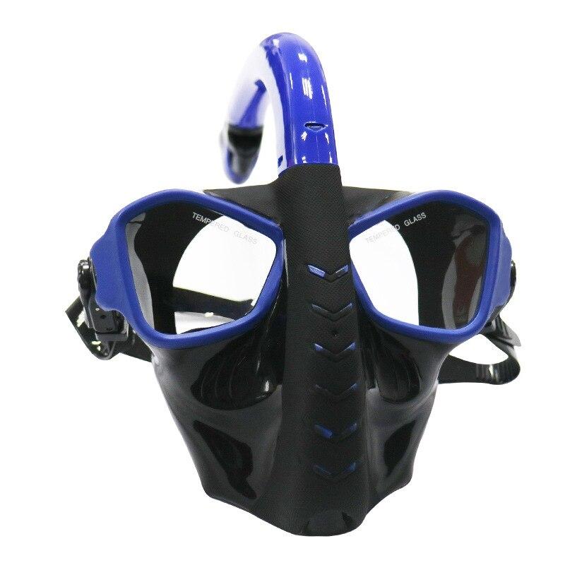 Plein Visage Masque de Plongée 180 Vue Panoramique Masque de Plongée avec Lentille En Verre Trempé Plongée Lunettes Masque pour Sous-Marine Tuba Natation