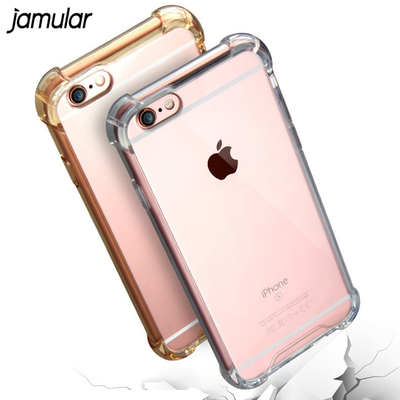 Transparent ShockProof telefonfodral för iPhone X XS MAX XR 7 8 Plus 5S SE Fodral Klar Mjuka Fodral för iPhone 7 Plus 6 6S Plus skal