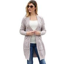 Women V neck Oversized Cardigan Jacket Coat Long Cardigans Autumn Knitting Sweater Winter Open Stitch Poncho