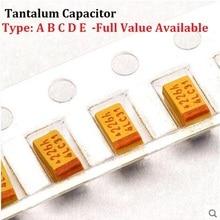 10 шт. танталовый конденсатор тип A 476 6,3 V 47 мкФ 6,3 V SMD 3216 емкость 6.3V47UF 1206 конденсаторы 47UF6. 3V