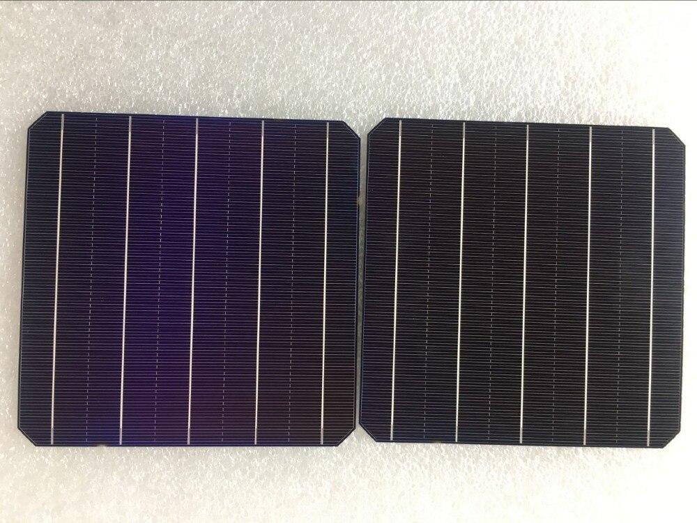 100 pièces 5 W 0.5 V A Grade 156*156 MM PV monocristallin silicium cellule solaire 6x6 pour bricolage panneau solaire-in Cellules photovoltaïques from Electronique    1