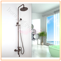 Retail Luxury Brass Shower Set 8 Inch Overhead Shower Rose Color Rainfall Shower Set Free Shipping