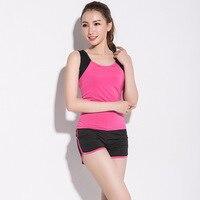 Sport Women Yoga Suit Spring/summer Dance Show Thin Vest Shorts Suits Gym Running Uniforms