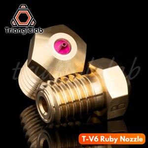 Image 2 - Trianglelab buse rubis haute température T V6 1.75 MM pour E3D V6 HOTEND Compatible avec PETG ABS PEI PEEK NYLON etc. buse rubis