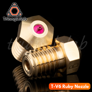 Image 2 - trianglelab high temperature T V6 Ruby Nozzle 1.75MM for E3D V6 HOTEND Compatible with PETG ABS PEI PEEK NYLON etc. ruby nozzle
